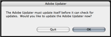 Adobe Updater Warning