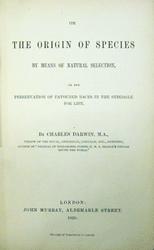Titelseite von Darwins Origin of Species