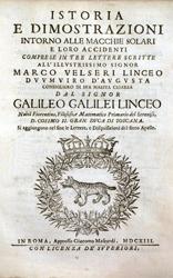 Titelseite von Galileos Istoria
