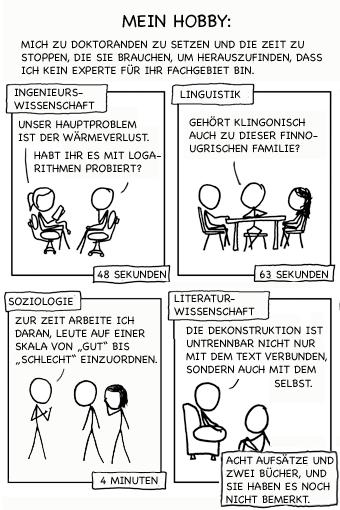 Wenn Sie glauben, die Kritik an der Literaturwissenschaft sei zu hart, lesen Sie den Wikipediaeintrag zu Dekonstruktion.