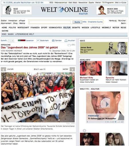 Jugendliche protestieren gegen Langenscheidt?