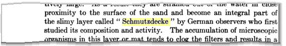 """<em>Schmutzdecke</em> in """"The Microscopy of Drinking Water"""" von 1927"""