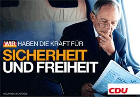 CDU-Wahlplakat: WIR HABEN DIE KRAFT FÜR SICHERHEIT UND FREIHEIT