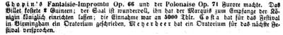 Das Wort Festival in der Berliner Musikzeitung Echo von 1855-56