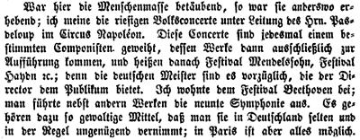 Das Wort Festival in der Zeitschrift Deutsches Museum von 1864