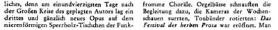 Das Wort Festival in der Zeitschrift Aufbau (Band 11, 1945)