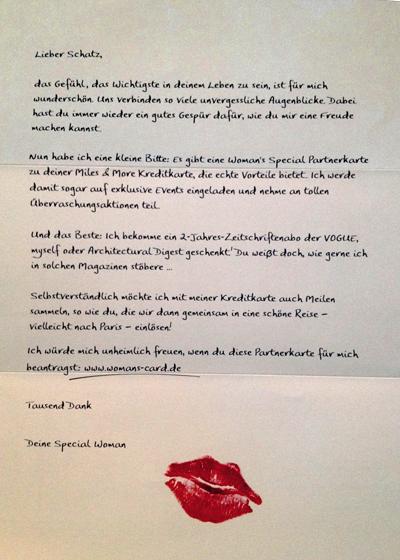 Mailingkampagne der Lufthansa, Juni 2012