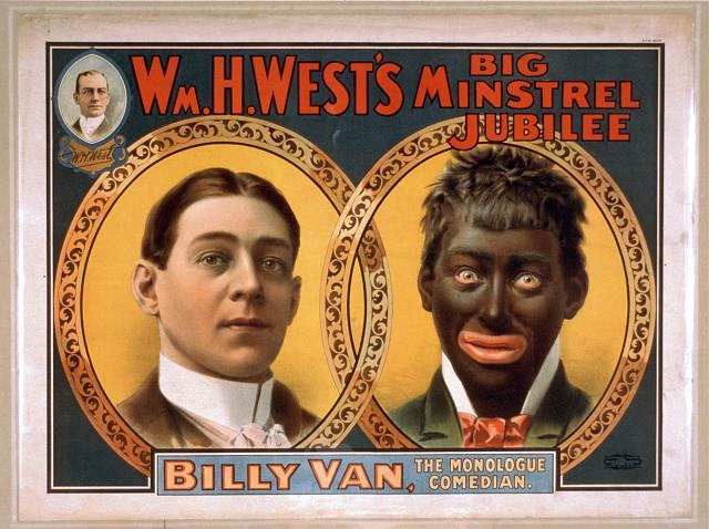 Wm. h. west's big minstrel jubilee – amerikanisches werbeplakat von 1900