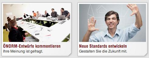 Das Austrian Standards Institute stellt sich Mitwirkung vor.