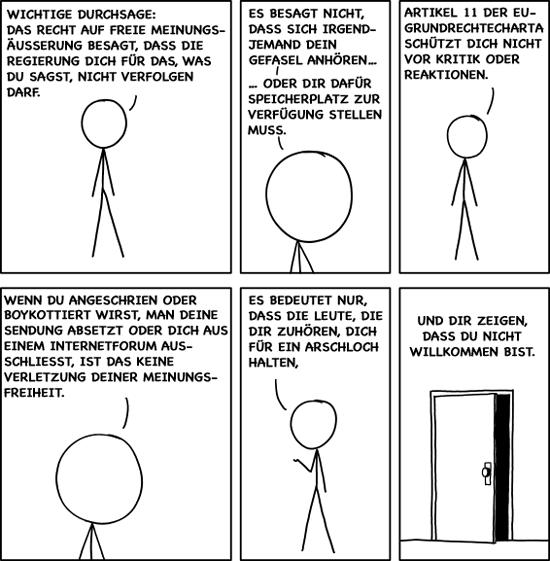 xkcd über Meinungsfreiheit