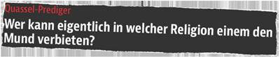 Quassel-Prediger (B.Z.)